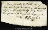 Receipt for William Calk's subscription to the Kentucky Gazette, 1808.