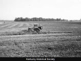 Tractor plowing in the fall in Ohio River bottoms, Maceo, Ky.
