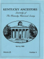 Kentucky Ancestors Vol 25 No 4