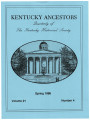 Kentucky Ancestors Vol 21 No 4